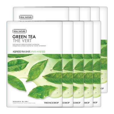 Mặt Nạ Giấy Thanh Lọc Da THEFACESHOP REAL NATURE GREEN TEA FACE MASK