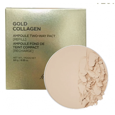 [FMGT] Lõi Phấn Nền Che Khuyết Điểm THEFACESHOP GOLD COLLAGEN AMPOULE TWO-WAY PACT SPF30 PA+++ (REFILL)