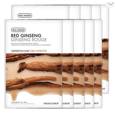 Mặt Nạ Giấy Tái Tạo Da THEFACESHOP REAL NATURE RED GINSENG 20g